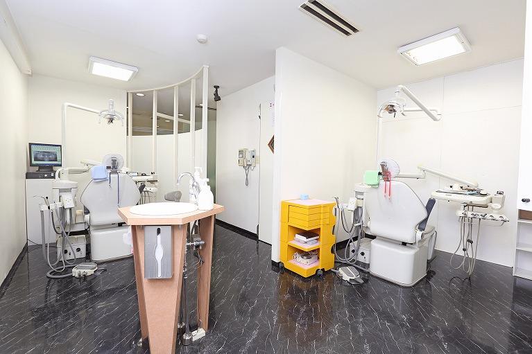 豊富にある診療台